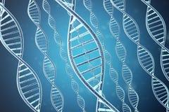 Concepto de bioquímica con la molécula de la DNA representación 3d stock de ilustración