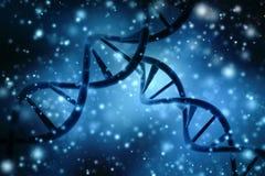 Concepto de bioquímica con la molécula de la DNA en fondo abstracto médico representación 3d Imágenes de archivo libres de regalías