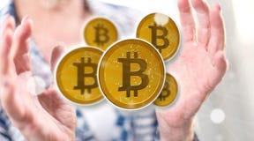 Concepto de bitcoin imágenes de archivo libres de regalías