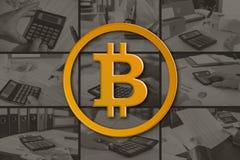 Concepto de bitcoin fotos de archivo