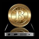 Concepto de Bitcoin Fotografía de archivo libre de regalías