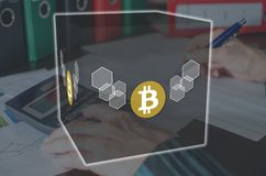 Concepto de bitcoin foto de archivo