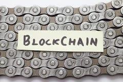 Concepto de Blockchain foto de archivo libre de regalías