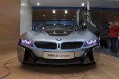 Concepto de BMW i8 - demostración de motor de Ginebra 2012 Imágenes de archivo libres de regalías