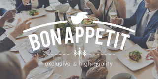 Concepto de Bon Appetite Food Delicious Meal Imágenes de archivo libres de regalías