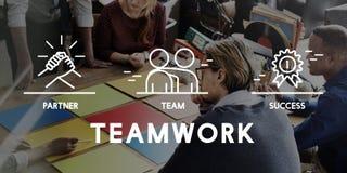Concepto de Business Collaboration Teamwork Corporation fotos de archivo libres de regalías