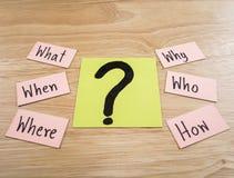 Concepto 20 de Busniess de las preguntas Imágenes de archivo libres de regalías