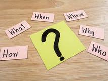 Concepto 21 de Busniess de las preguntas Fotografía de archivo