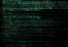 Concepto de código de programa del web foto de archivo
