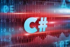 Concepto de C# Imagen de archivo