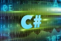 Concepto de C# Imagen de archivo libre de regalías