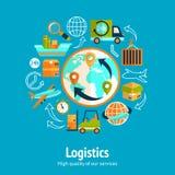 Concepto de cadena logístico Imágenes de archivo libres de regalías