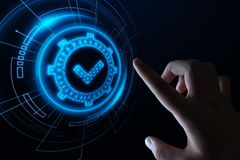 Concepto de calidad standard de la tecnología del negocio de Internet de la garantía de la garantía de la certificación del contr fotos de archivo libres de regalías