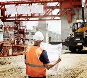 Concepto de Career Structure Construction del arquitecto del modelo Imágenes de archivo libres de regalías