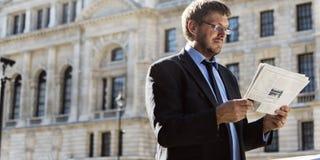 Concepto de Caucasian Male Professional del hombre de negocios Foto de archivo