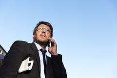 Concepto de Caucasian Male Professional del hombre de negocios Fotografía de archivo