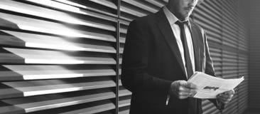 Concepto de Caucasian Male Professional del hombre de negocios Fotos de archivo