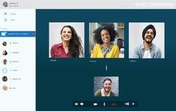 Concepto de charla de la comunicación de Facetime de la llamada video fotografía de archivo libre de regalías
