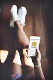 Concepto de Chatting Social Networking del mensajero imagen de archivo libre de regalías