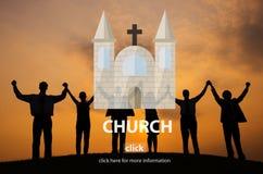 Concepto de Christian Faith Religious Temple Religious de la iglesia Fotos de archivo libres de regalías