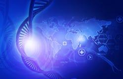 Concepto de ciencia genética stock de ilustración