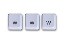 Concepto de claves de WWW Foto de archivo