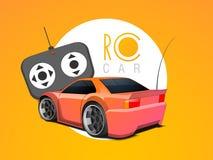 Concepto de coche del juguete con el telecontrol libre illustration