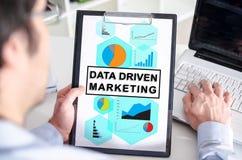 Concepto de comercialización conducido datos en un tablero imagen de archivo libre de regalías