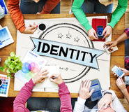 Concepto de comercialización de marcado en caliente de la marca de Copyright de la identidad fotos de archivo