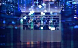 Concepto de comercio electrónico y de establecimiento de una red Imagenes de archivo