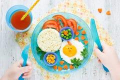 Concepto de comida sana para el niño fotografía de archivo libre de regalías