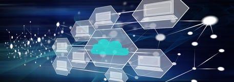 Concepto de computación de la nube libre illustration