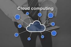 Concepto de computación de la nube Fotografía de archivo libre de regalías