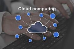 Concepto de computación de la nube Fotografía de archivo