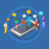 Concepto de comunicación de la mensajería de la charla Imágenes de archivo libres de regalías