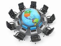 Concepto de comunicación empresarial global. Fotografía de archivo