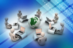 Concepto de comunicación empresarial global Foto de archivo libre de regalías