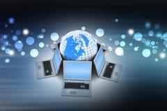 Concepto de comunicación empresarial global Imagenes de archivo