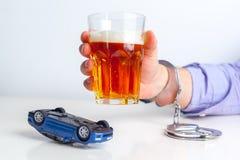 Concepto de conducción borracho Foto de archivo libre de regalías
