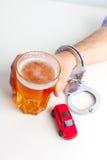 Concepto de conducción borracho Fotos de archivo libres de regalías