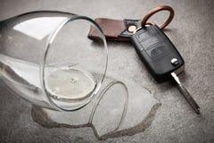 Concepto de conducción borracho fotografía de archivo libre de regalías