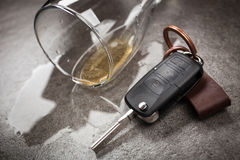 Concepto de conducción borracho imagen de archivo libre de regalías
