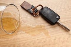 Concepto de conducción borracho imagen de archivo