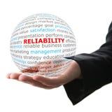 Concepto de confiabilidad en negocio foto de archivo libre de regalías