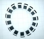 Concepto de confianza en equipo del negocio la sala de conferencias está lista Imagen de archivo libre de regalías