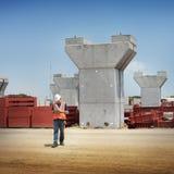 Concepto de Construction Site Planning del arquitecto del ingeniero imagen de archivo