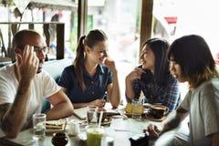 Concepto de consumición del café del grupo de personas Imagen de archivo