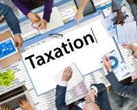 Concepto de contabilidad de la economía de las finanzas del pago de los impuestos Imagen de archivo libre de regalías