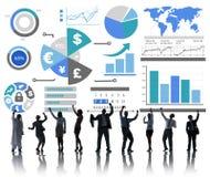 Concepto de contabilidad financiero del intercambio de la economía del negocio de las finanzas Fotos de archivo libres de regalías