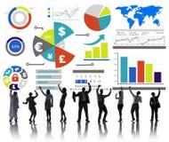 Concepto de contabilidad financiero del intercambio de la economía del negocio de las finanzas Fotografía de archivo